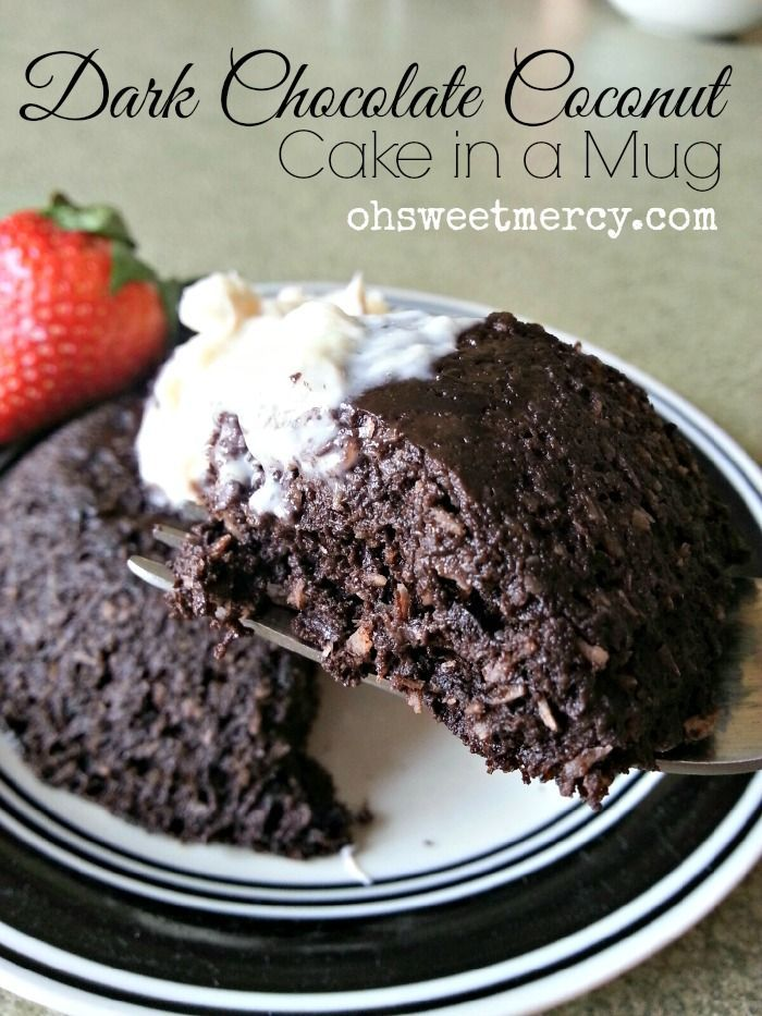 Craving something dark and chocolatey but don't want to blow your THM eating style? Try this quick and tasty on-plan Dark Chocolate Coconut Cake in a Mug!