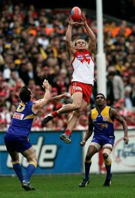 High flying Mark for the Swans
