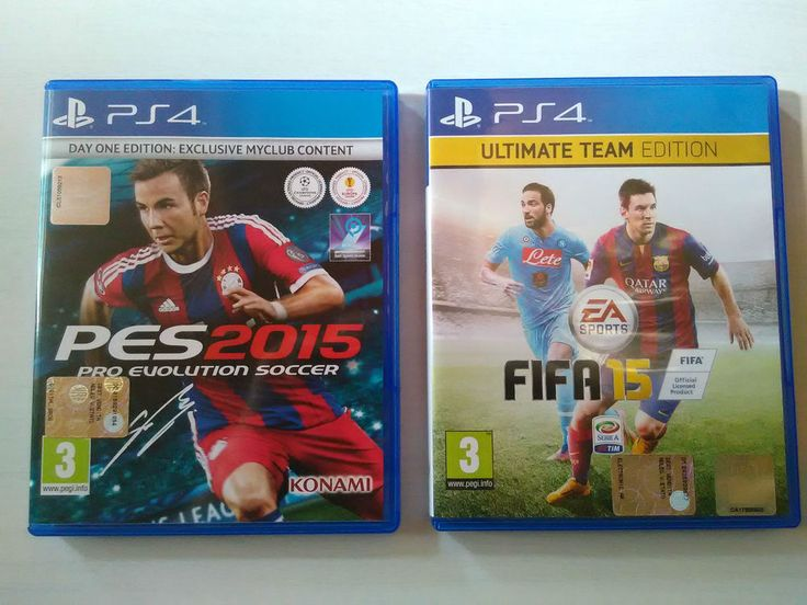 Pes 2015 PS4 by Konami   +   Fifa 15 PS4 by Ea Sports      - Usati Pari al NUOVO