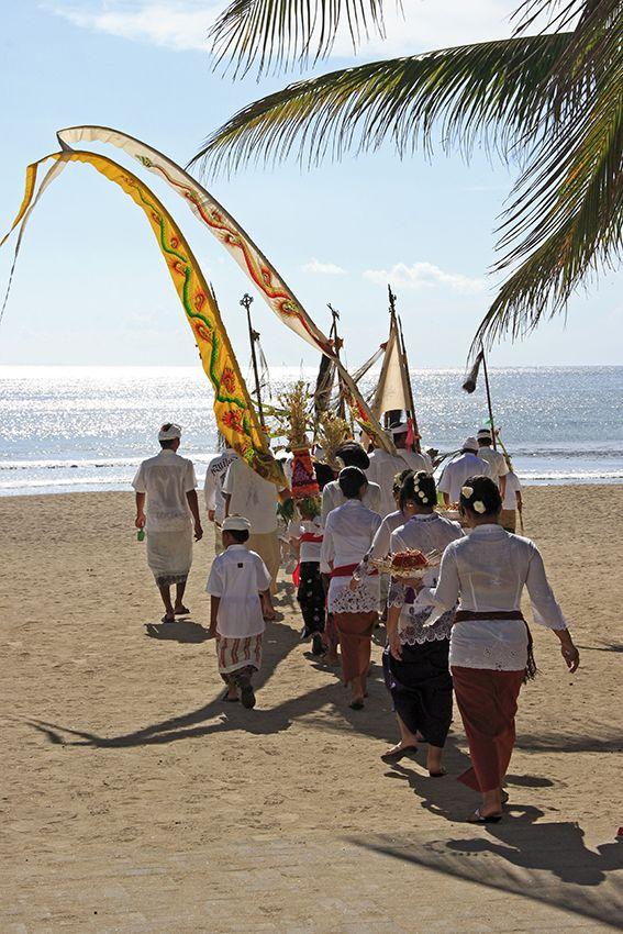 The Balinese Melasti ceremony