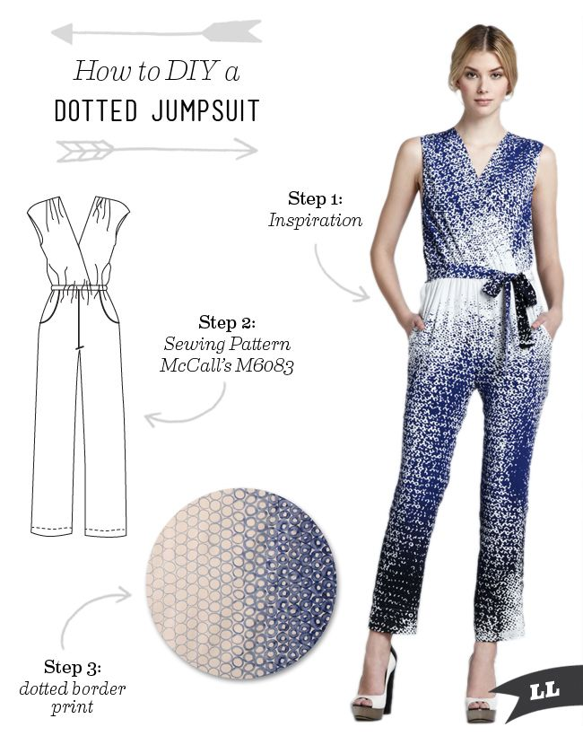 Lula Louise: How to DIY a Dotted Jumpsuit
