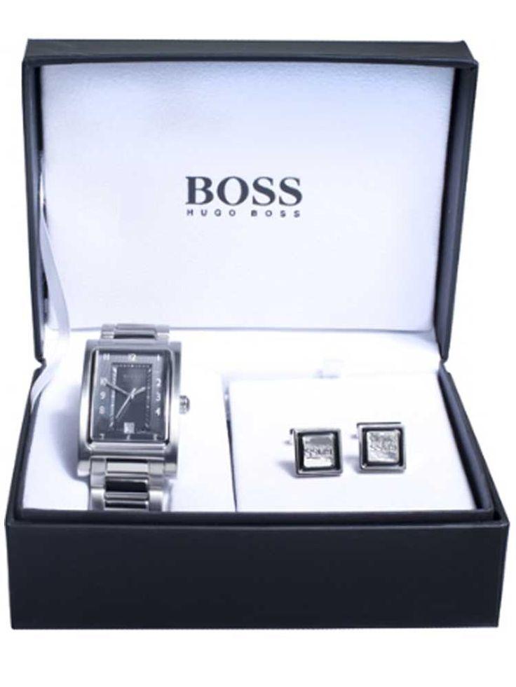 Hugo Boss Mens Watch and Cufflink Gift Set 37153