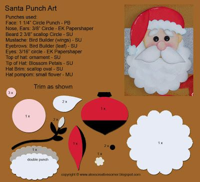 Alex's Creative Corner: Santa Card  Stampin' Up!