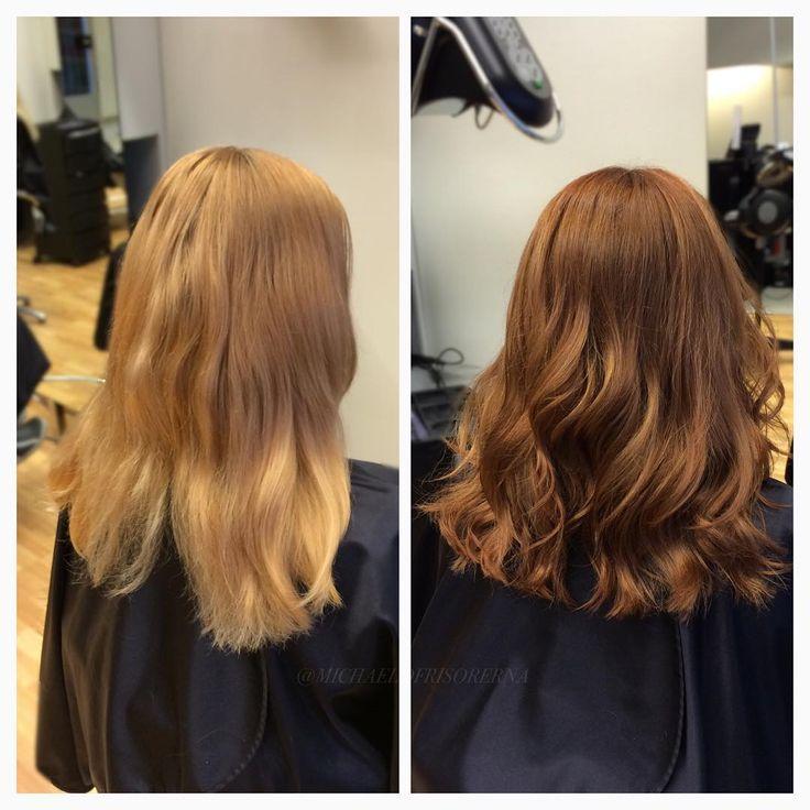 Sandras kund ville behålla ett ljust intryck men ändå göra en färggrann förändring! De nyanserar i en varm ljusbrun som ändå ger ett bra guldigt ljus insläpp i höst solen ☺️ så fint, eller hur!?  #michaelofrisorerna #hairpassion #stockholm #ombre #ombrehår #ombrehair #balayage #olaplex #olaplexsweden #hair #hairstyle #hairstylist #hår #haircolour #hairfashion #Longhair #hairdresser #blondehair #blonde #brownhair #curlyhair