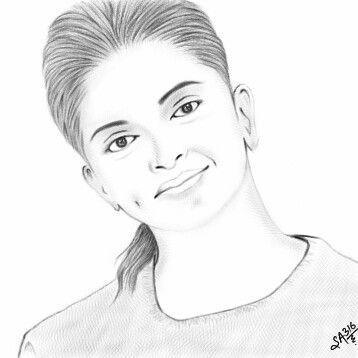 Deepika padukone sketch.. Done by Me :)....on samsung ...