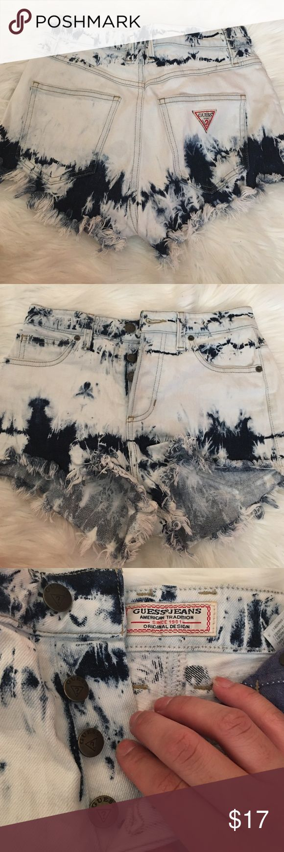 High waist GUESS Shorts These shorts are the staple of what GUESS clothing is. A beautiful wash on this shorts, perfect to grab a t shirt and go. These make you look really good! Guess Shorts Jean Shorts