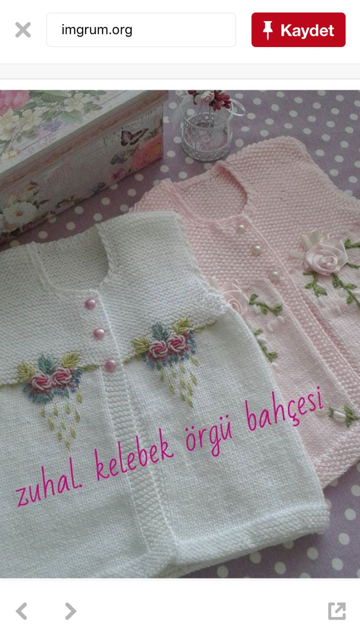 Very beautiful embroidered cardigan for babies