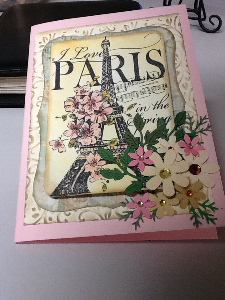 Paris stamp by Stampendous