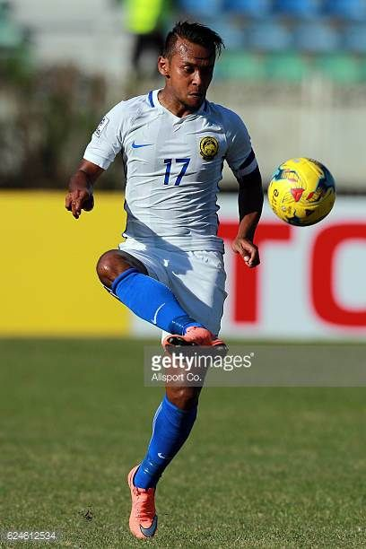 Mohd Amri Yahyah of Malaysia in action during the final round Group B AFF Suzuki Cup match between Malaysia and Cambodia at the Thuwanna Stadium on...