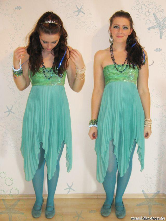Fasching Nixe Meerjungfrau (Diy Costume Mermaid)