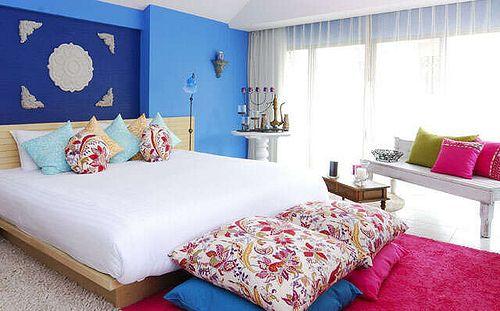 cobalt blue and pink bedroom home ideas pinterest