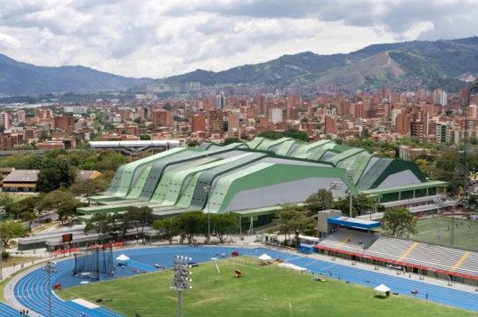 Flowing Medellin Sports Coliseum Keeps its Cool With a Laser Cut Facade | Inhabitat - Sustainable Design Innovation, Eco Architecture, Green Building