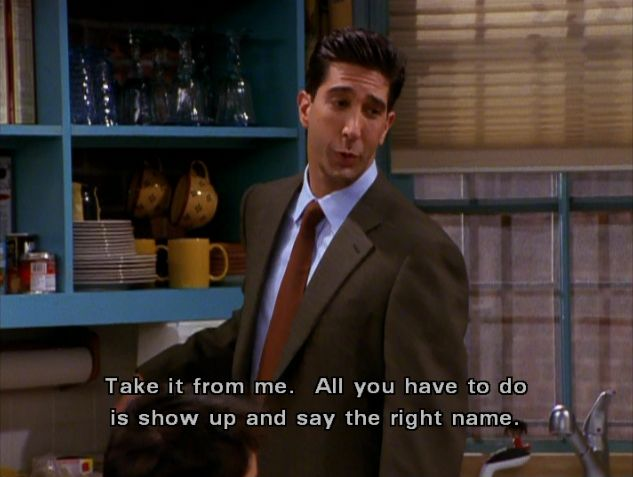 Say the right name ~ Ross ~ Friends Quotes ~ Season 7, Episode 2: The One with Rachel's Book