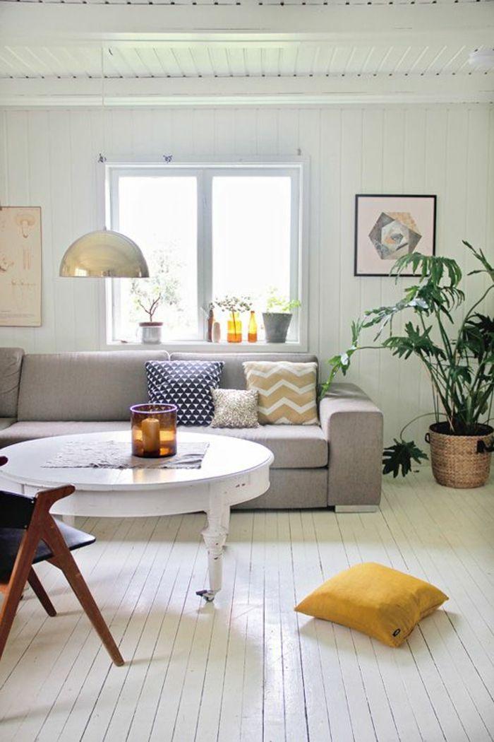 parquet blanc sol en lattes de bois en blanc s jour. Black Bedroom Furniture Sets. Home Design Ideas