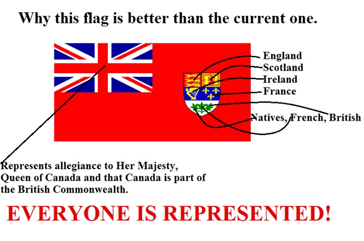 The Canadian Red Ensign represents Canada a lot better than the Maple Pearson Rag...