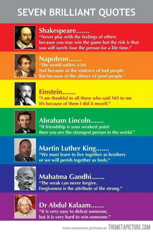 Seven Brilliant Quotes...