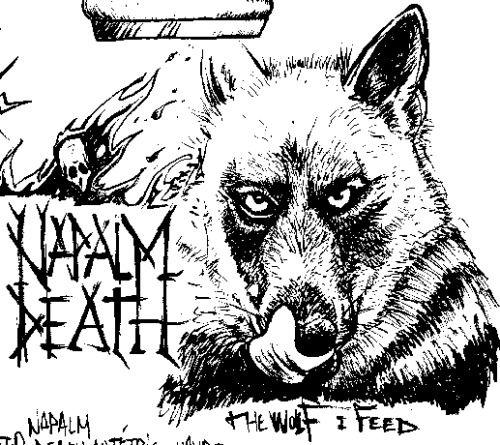 """Recherche pour le poster de """" NAPALM DEATH """" au Tétris au Havre , par TDM."""