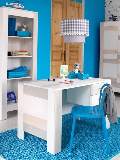 Strandkamer met blauwe muren #kinderkamer   Beach room #blue #kidsroom