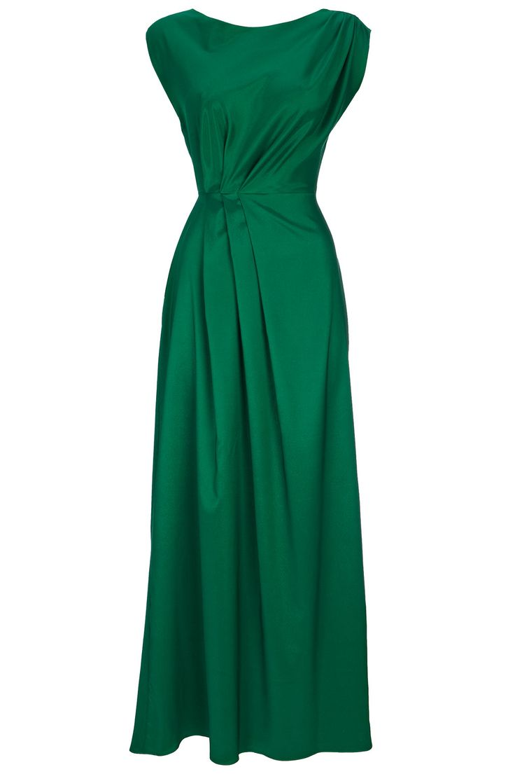 Green pleated maxi dress ! In Love with this dress!
