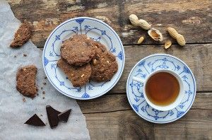 Lækre penautbutter cookies :)