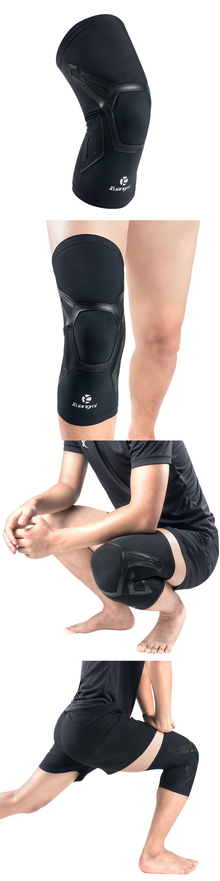 Kuangmi 1 Piece Knee Sleeve Support Compression Brace Anti Slip Pain Relief for Sports Arthritis Patella Joint Injury Recovery