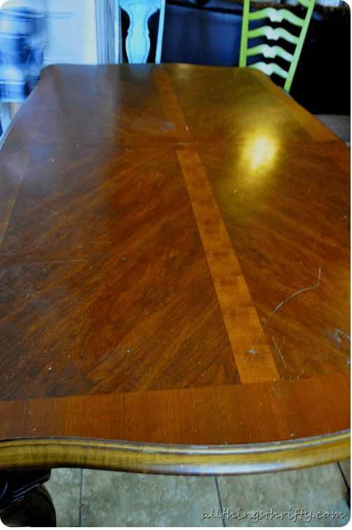 Creative paint diy dining table makeover ideas before. Visit site to know result after makover it.