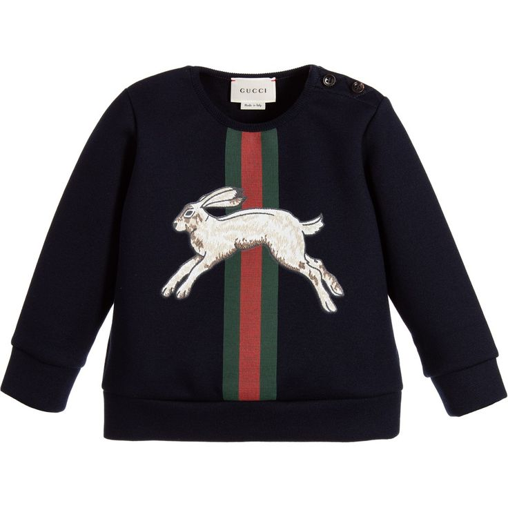 Baby Boys Navy Blue Hare Sweatshirt
