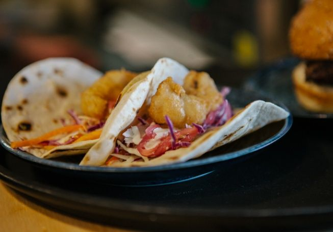 Baja Fish Tacos from The Burger Shed, Mosman