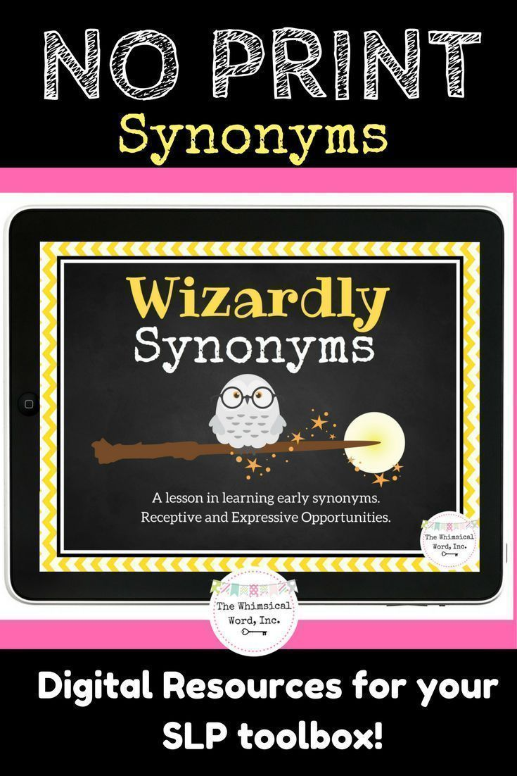 Synonym development is such a huge part of language processing and organization.  Check out this amazing NO PRINT and NO PREP lesson for your iPad or laptop!