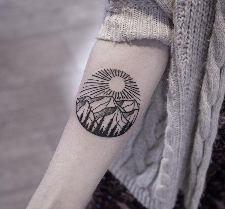 Mountain tattoo | Nature Tattoo