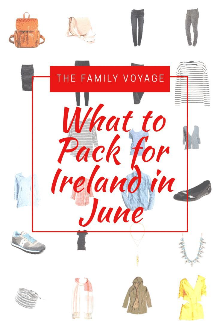 What to pack for Ireland in June | Ireland travel capsule wardrobe for summer trip to Europe