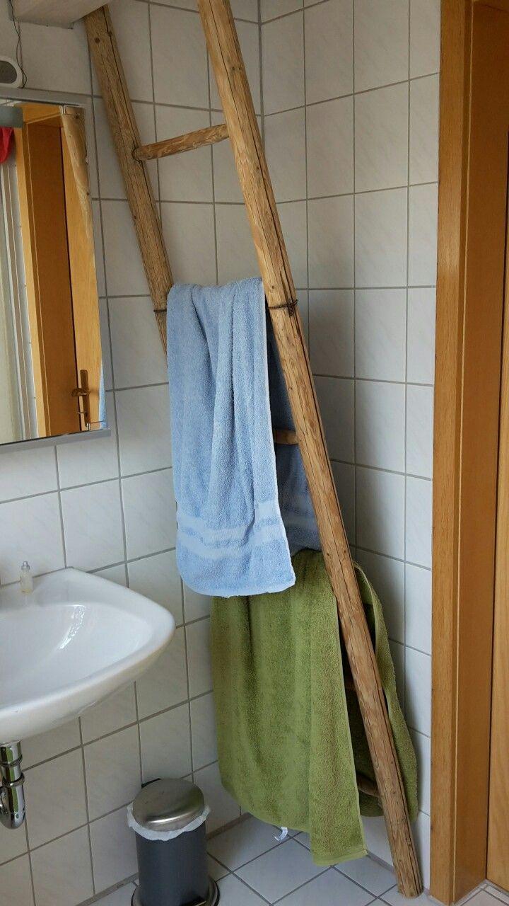 Alte Leiter Als Handtuchhalter Im Badezimmer! DIY :)