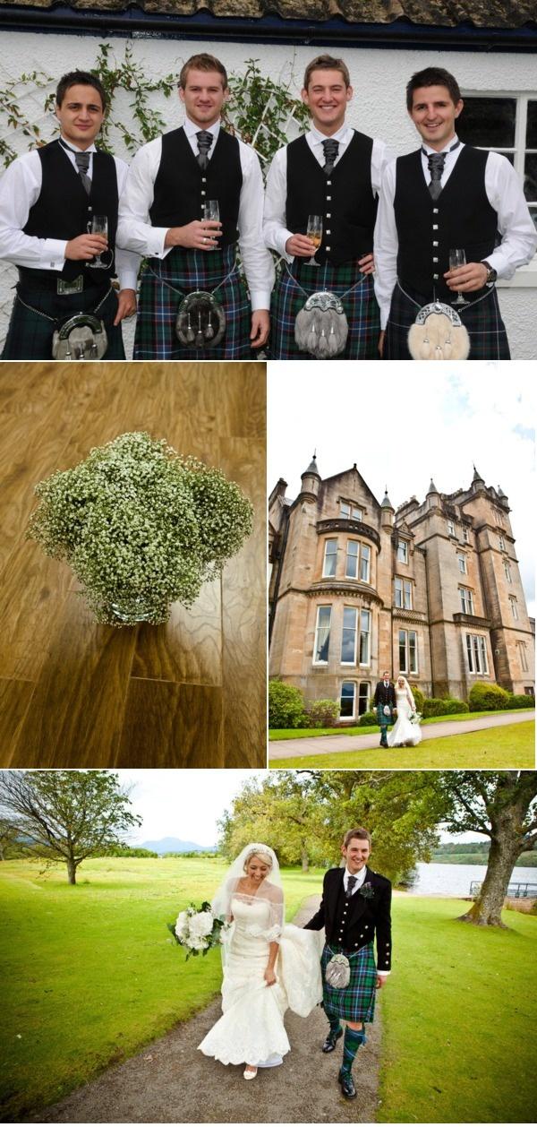 Scottish wedding. I love it!