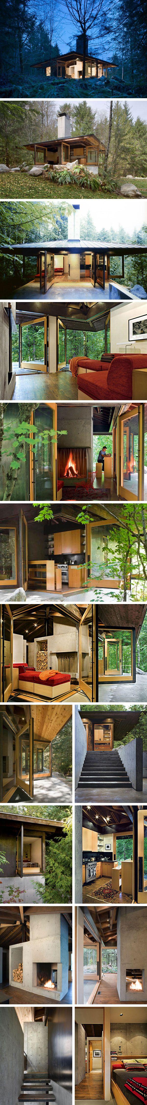 Маленький дом Tye River Cabin от Olson Kundig #tinyhomesdigest #tinyhouse #ecohouse #smallhouse