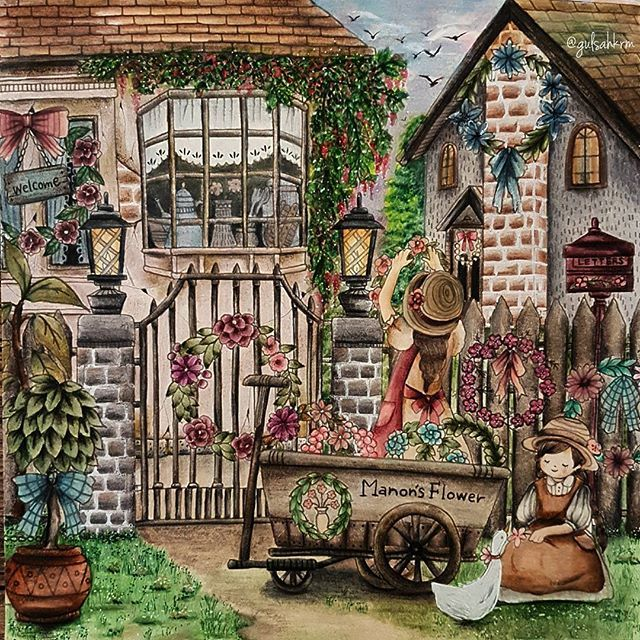 613 Best Romantic Country Coloring Book Images On