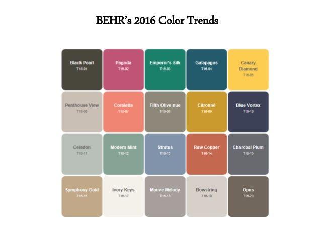 219 Best Images About Popular Paint Colors 2016 On Pinterest
