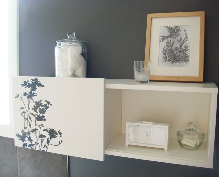 Great idea for dolling up the Ikea Brimnes wall cabinets - how will we use  our