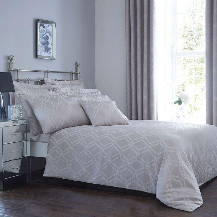 Geo Jacquard Bed Linen Collection | Dunelm