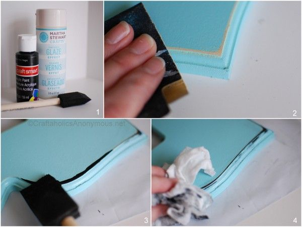 How to paint a faux- distressed frame...added my own twist but great technique!