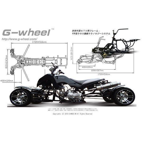 世界初 次世代型 G-wheel ATV 4輪 バギー 50cc ブラック
