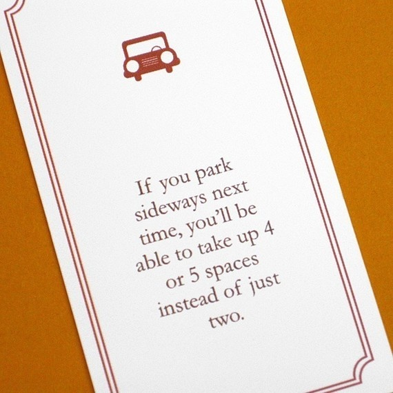 Fake parking ticket notes....  I want these @debhenderson would love these!!!!
