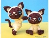 Crotchet Siamese Cats