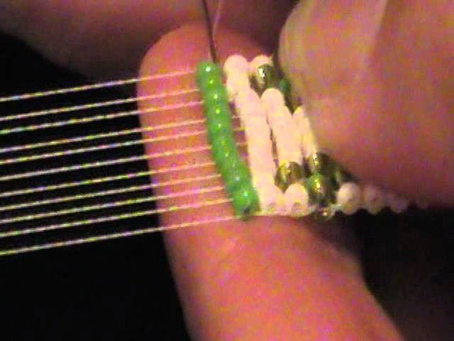 Starting & ending thread on a bead loom.