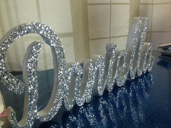 Styrofoam Script Name or Word | Styrofoam Name | Sweet 16 Candelabra | Cursive Name - up to 4 letters long