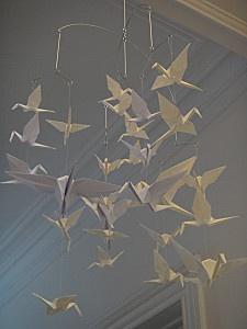 tuto mobile hirondelles origami