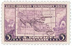 1936 3c Oregon Territory Centennia - Catalog # 783 For Sale at Mystic Stamp Company