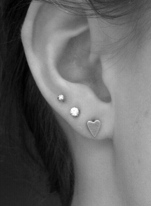 ear piercings three - Google Search