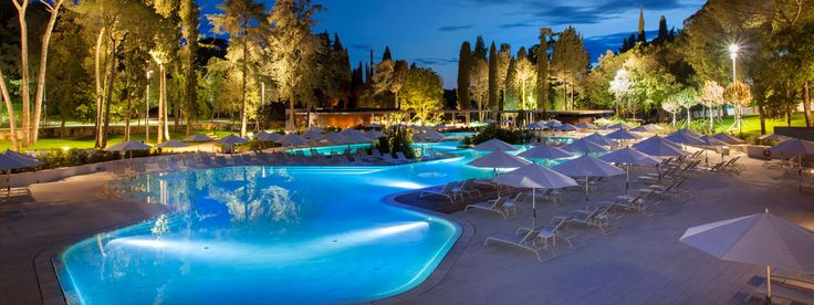 Outdoor swimming pool@Hotel Eden and Hotel Lone in Istria, Croatia.