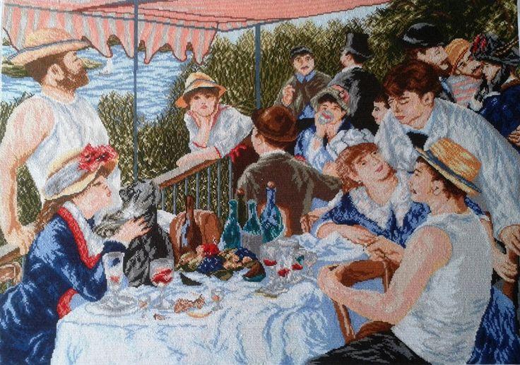 Śniadanie wioślarzy - Joanna-136 - Ozdoby na ścianę