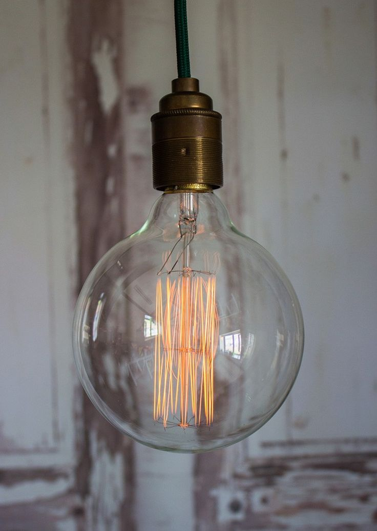 Extra Large Industrial Style Globe Filament Bulb | thegiftedfew.com | Vintage Industrial Lighting | Trend | Unique | Warehouse Home Design Magazine